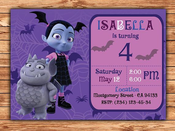 Charming Vampirina Birthday Invitation, Vampirina Invitation, Vampirina Birthday  Part, Vampirina, Vampirina Cards,