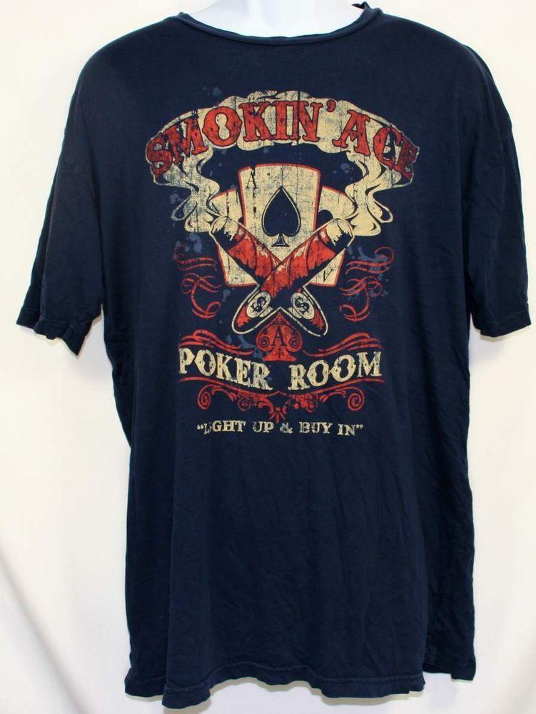 Smokin' Ace Poker Room Men's TShirt 2XL, 2X Large Short