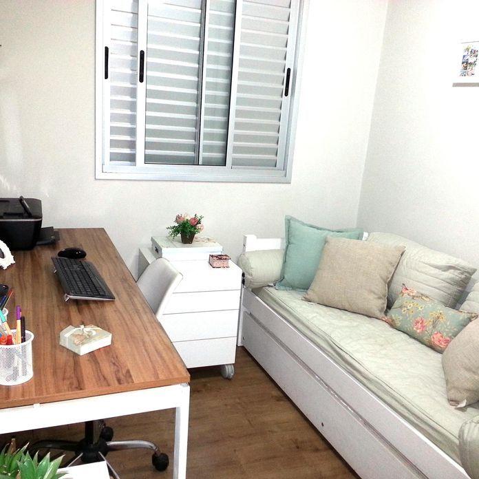 Decoração Home Office Com Cama Auxiliar Marianacamp 20125