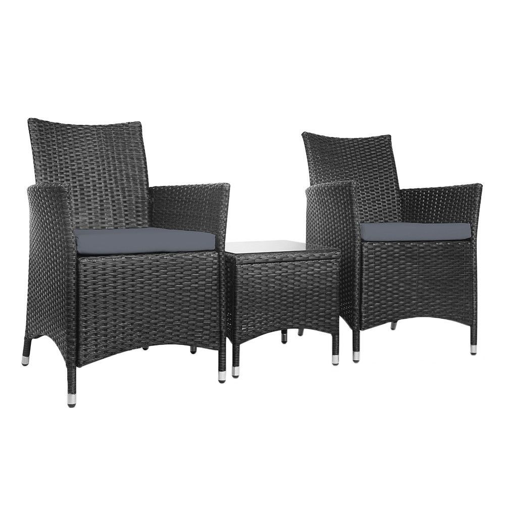 New 2 Seater Outdoor Chair Coffee Table Set