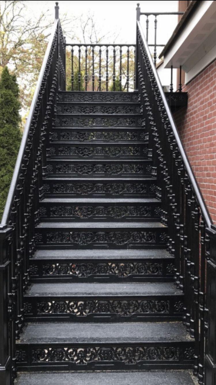 Exterior staircase | Custom home builders, Custom homes ...