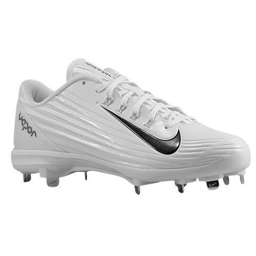best website 08915 6d76a NIKE LUNAR VAPOR PRO Baseball Cleats Metal MENS 683895 100 White NEW  Nike   BaseballCleats