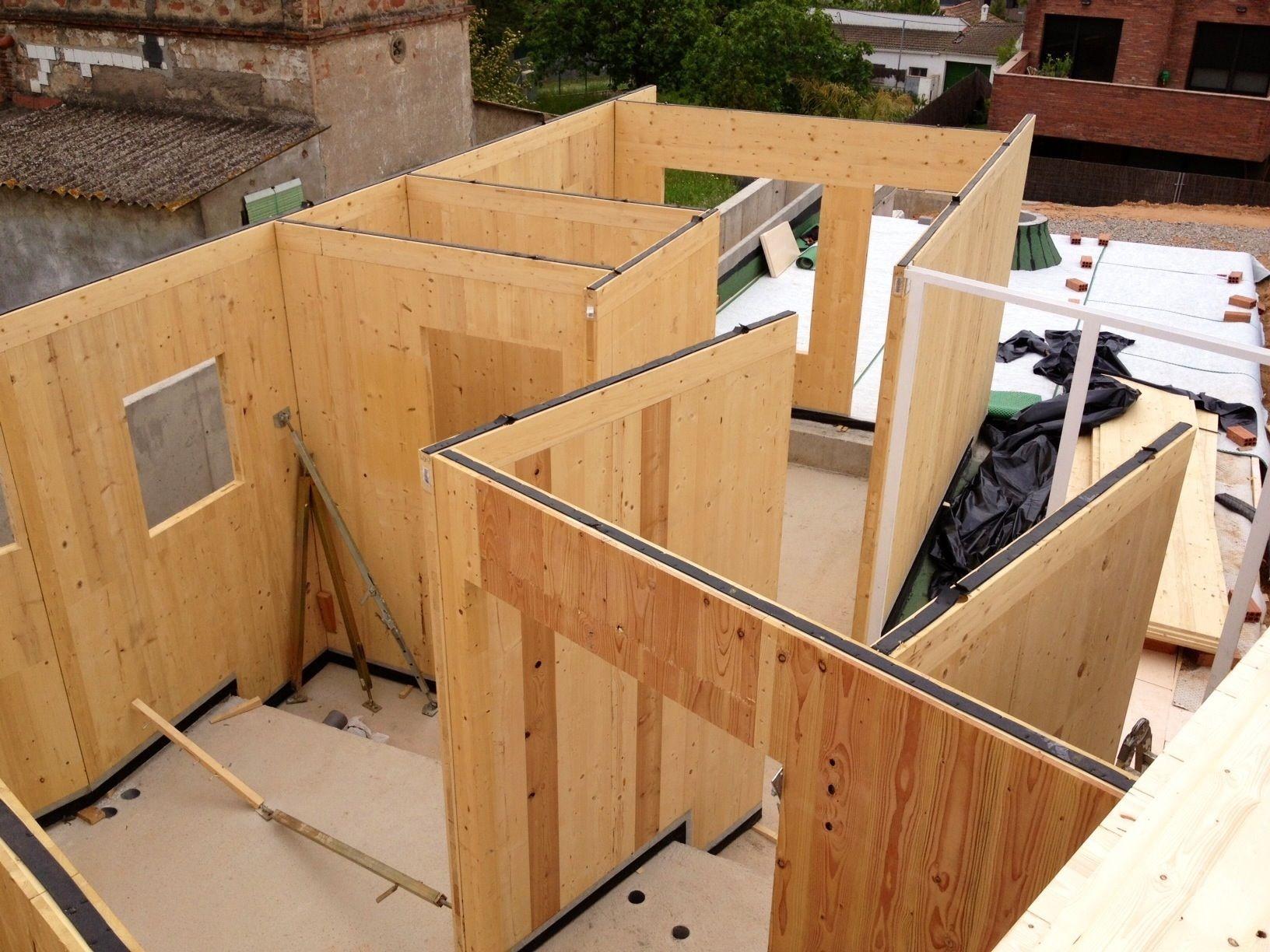 vivienda de madera estructura | Cross Laminated Timber | Pinterest ...
