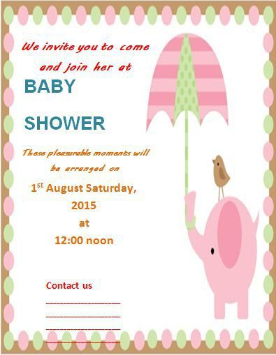 Baby Shower Invitation Template Templates Pinterest Baby - free word invitation templates