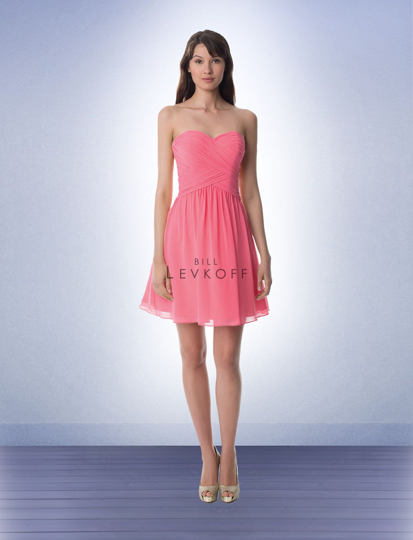Bill Levkoff 947 Bridesmaid Dress Ruched Sweetheart Bodice | Bill ...