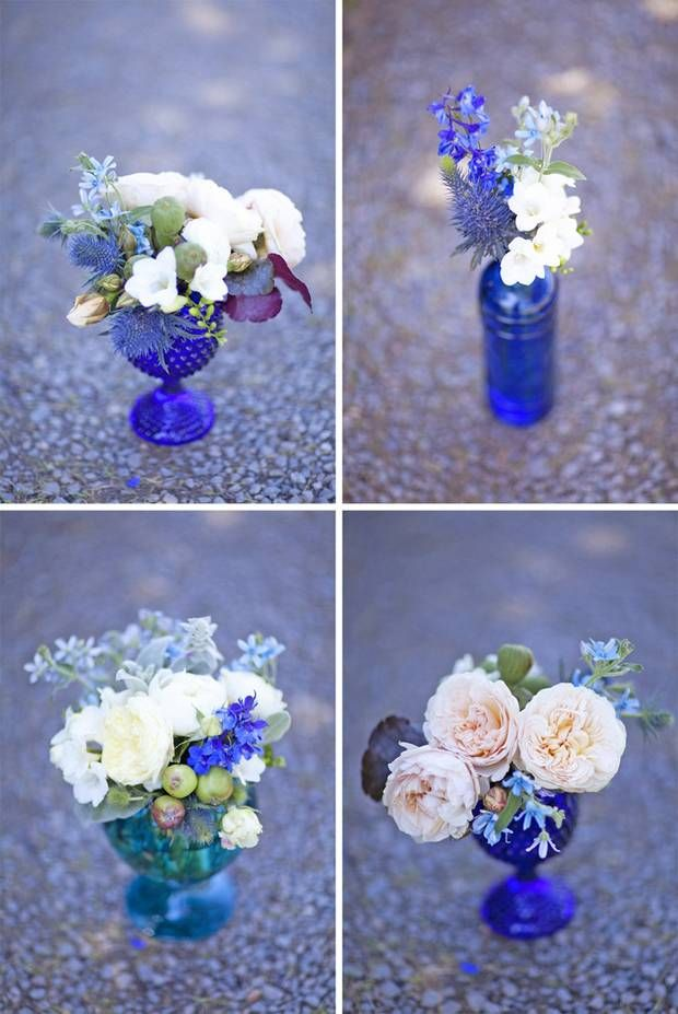 Cobalt Blue Wedding Flowers Centerpieces Pinterest Cobalt