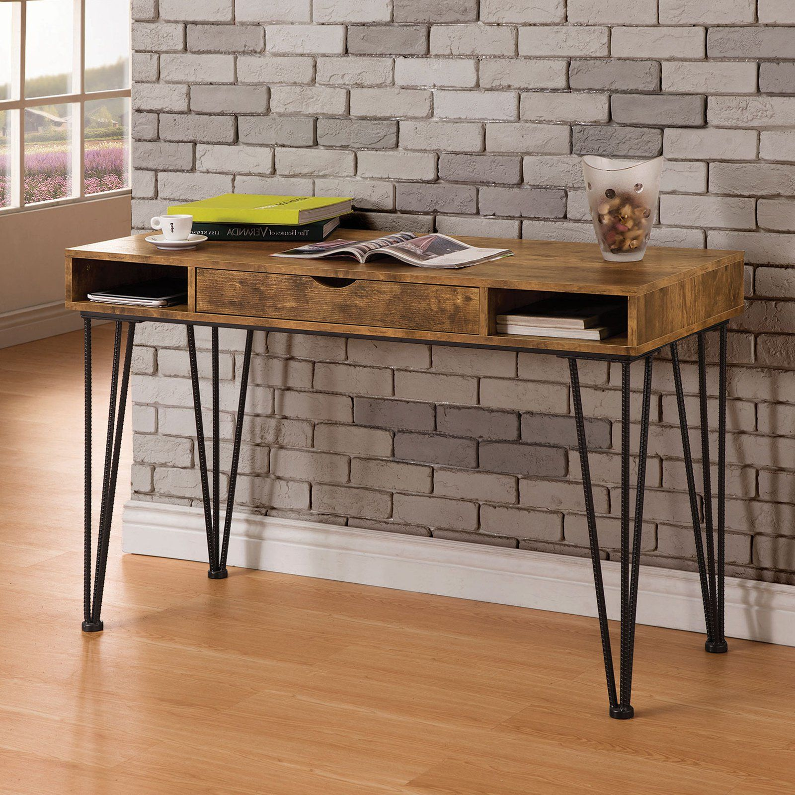 Exceptionnel Coaster Furniture Antique Nutmeg Writing Desk | From Hayneedle.com