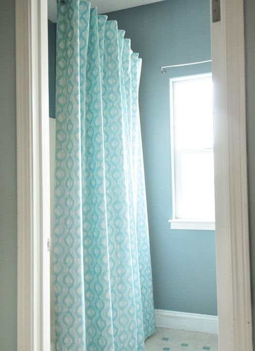 DIY Lined Shower Curtain