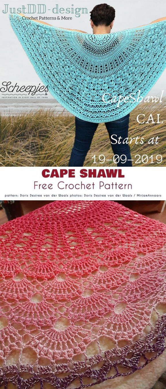 Lovely Cape Free Crochet Patterns