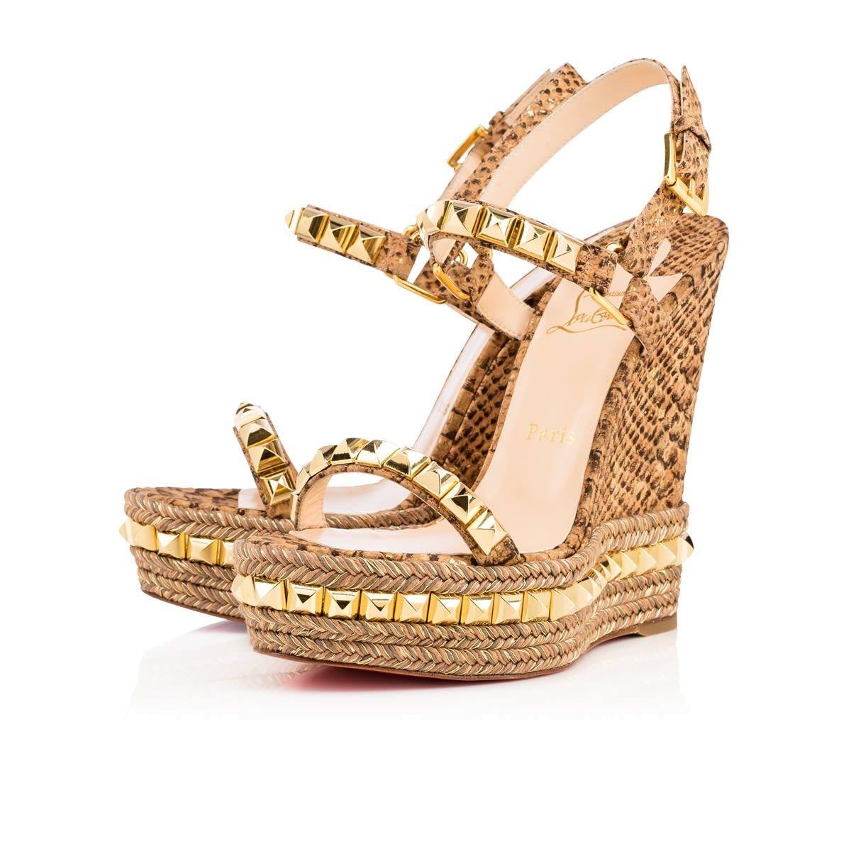 e445a6e221f Shoes - Cataclou 140 Cork Ecorce Cork - Christian Louboutin