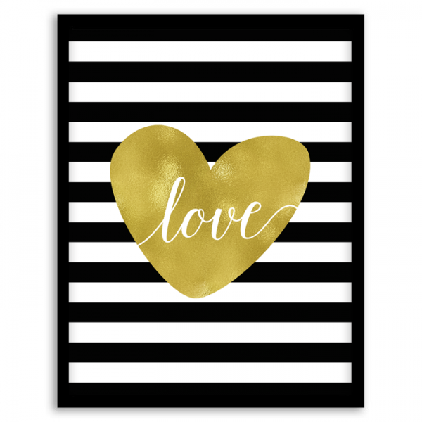 Free Printable Love in Stripes Wall Art   Printable wall art, Free ...