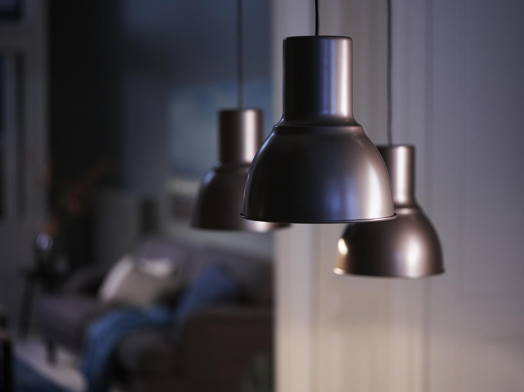 Hektar hanglamp ikea ikeanl lamp brons verlichting led