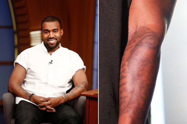 Kanye West Celebrities With Tattoos See Who S Inked Up Celebrity Tattoos Celebrities Kanye West