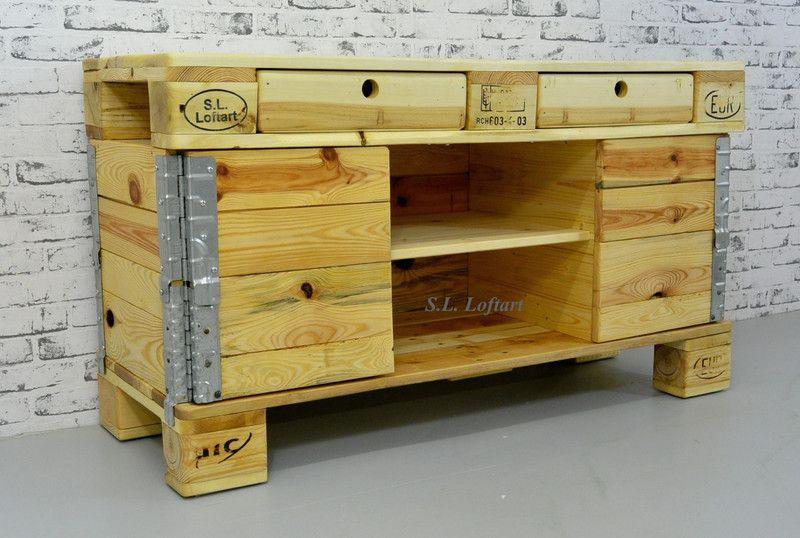 Vintage Kommoden - Palettenmöbel Kommode 'Case' 120/50/70 cm - ein Designerstück von SL-Loftart bei DaWanda
