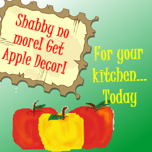 Apples are my favorite fruit! They are colorful, and apple decor for kitchen decorating is pretty and so versatile. http://besttoppicks.com/apple-decor-for-kitchen/