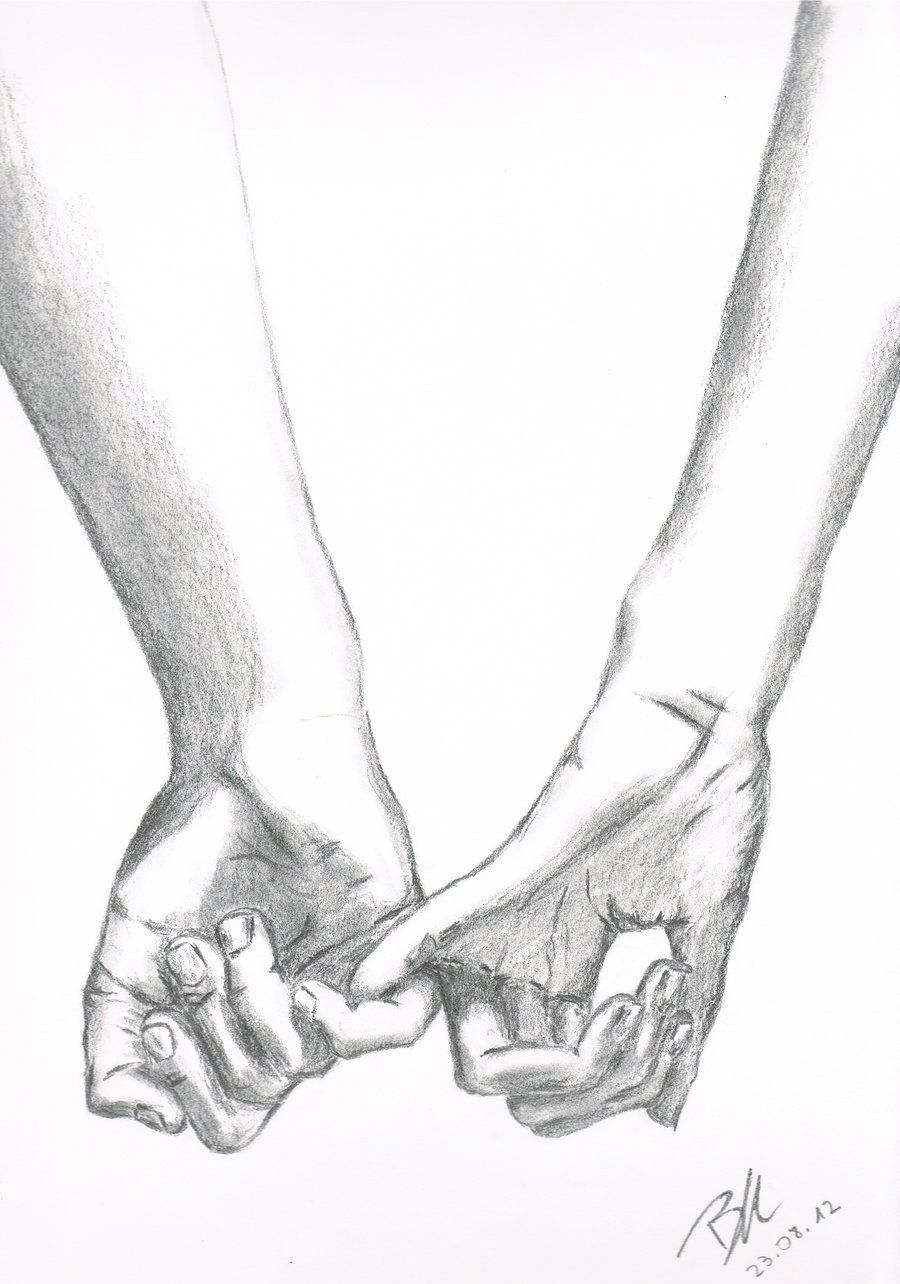 Drawing Holding Hands : drawing, holding, hands, Trust, Me?..