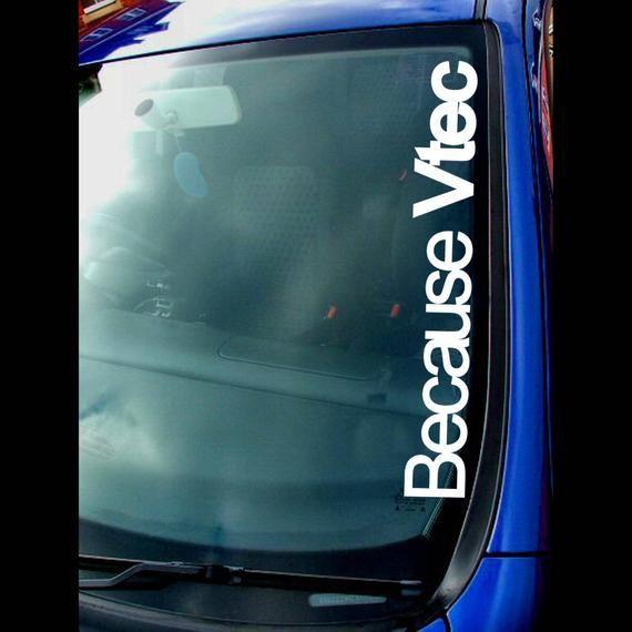Photo of でVTEC小型-大型カスタム面白いスローガンの修正ホンダ車のシーンファン-ウるヘアリーウィンドスクリーンバンパーのビニール製ダイカットステッカーデカール