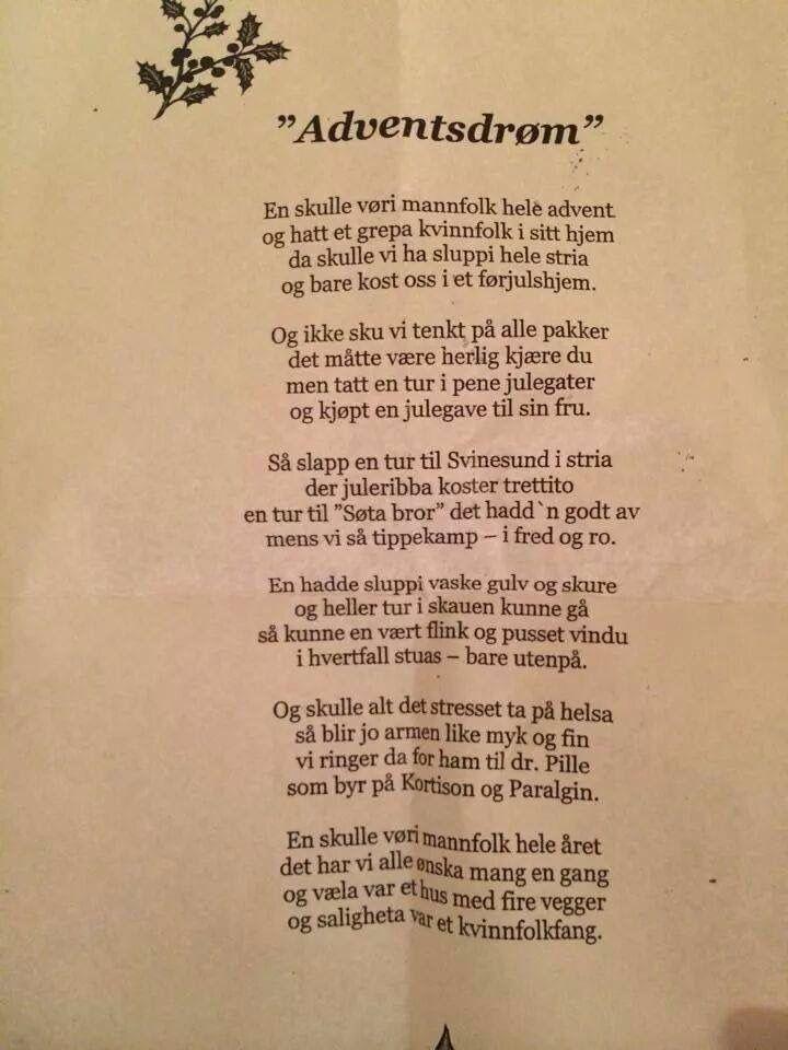 1864c814 Adventsdrøm | Gode Ord På Norske / ORDTAK | Dikt, Lyrikk og Morsomme ...