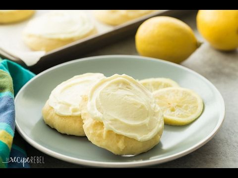 Frosted Lemon Sour Cream Sugar Cookies Recipe Sour Cream Sugar Cookies Sour Cream Cookies Recipes