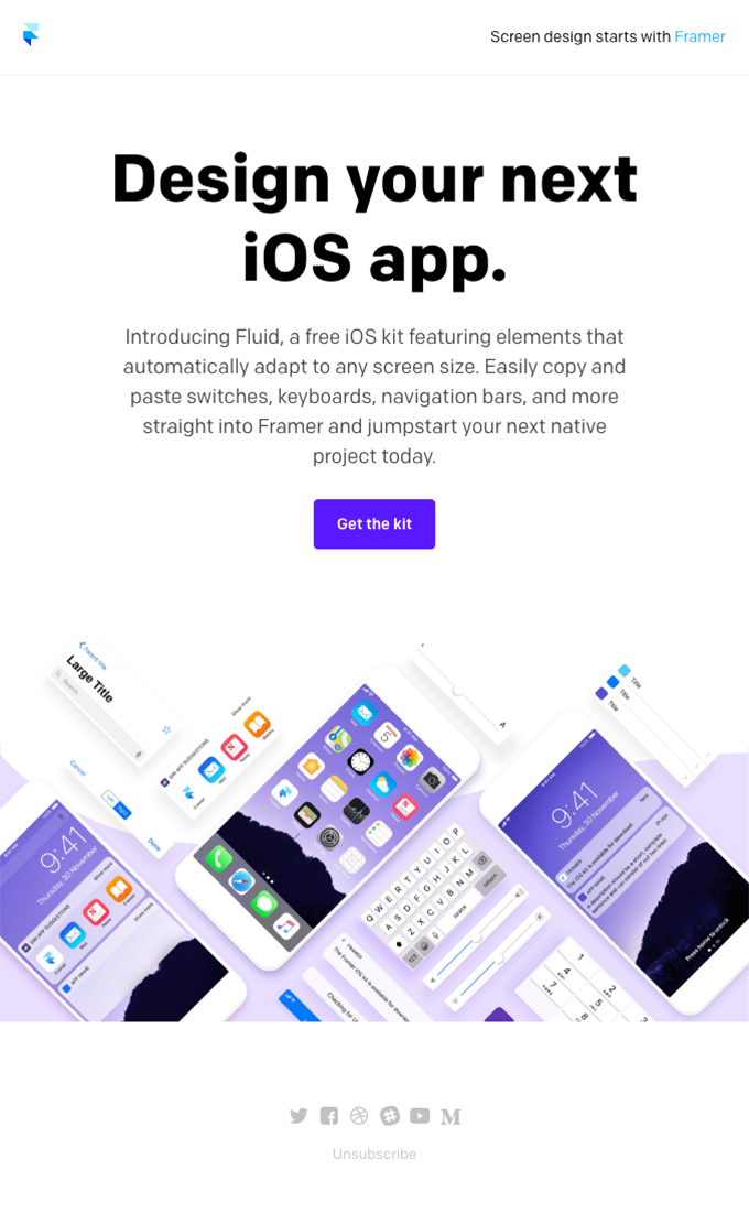 Introducing Fluid, a free iOS Kit for Framer Product
