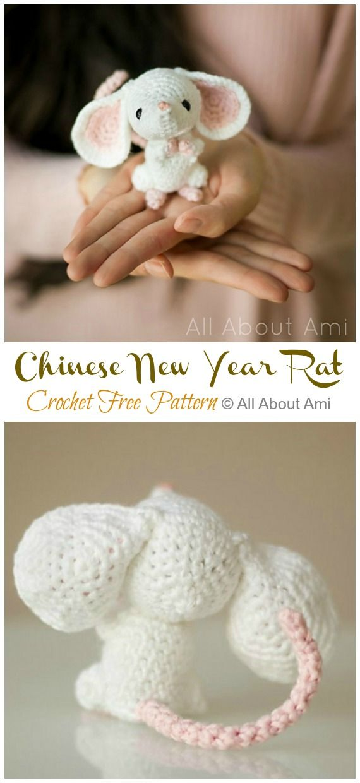 Amigurumi Chinese New Year Rat Crochet Free Pattern