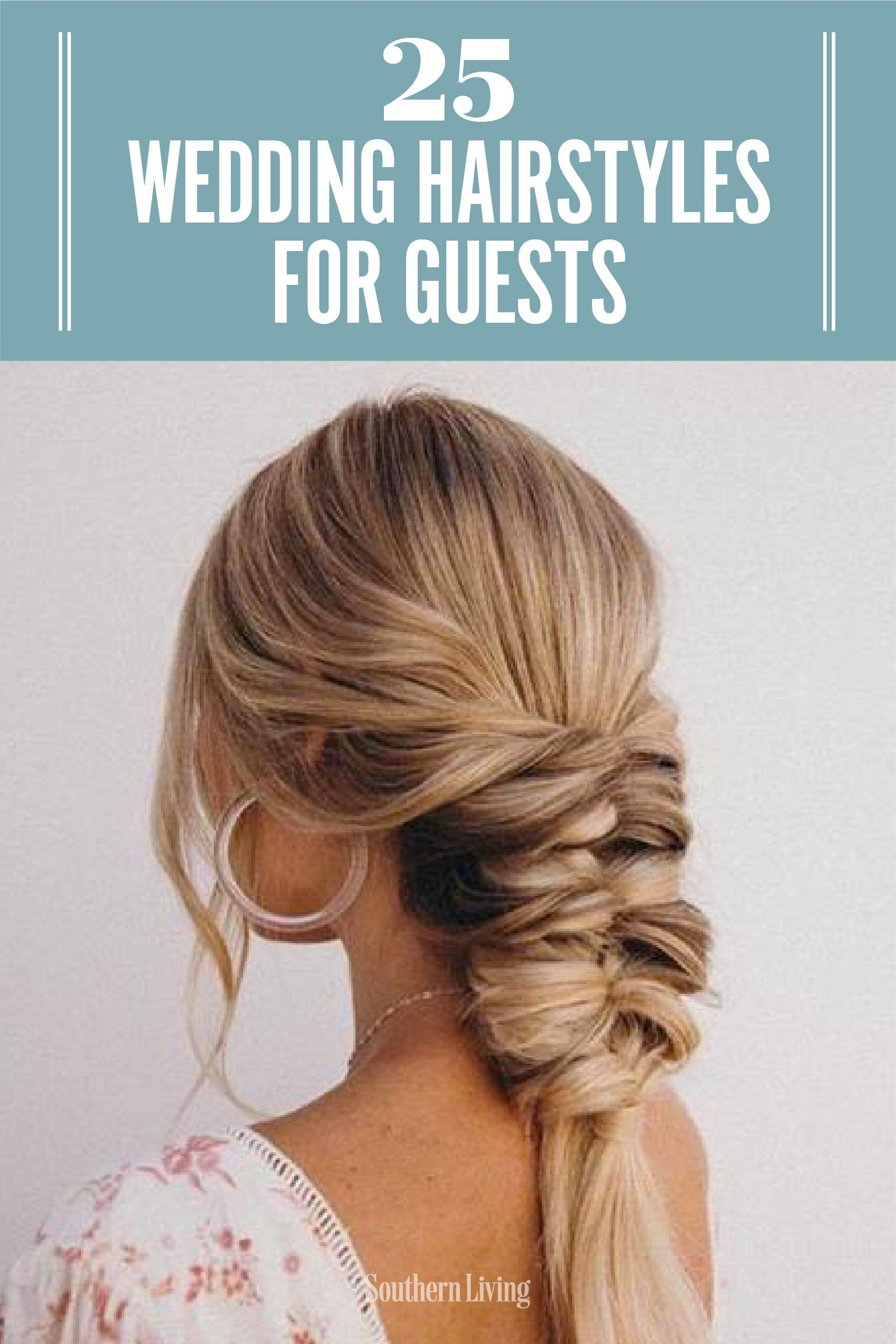 25 Easy Wedding Hairstyles For Guests That Ll Work For Every Dress Code Easy Wedding Guest Hairstyles Wedding Guest Hairstyles Guest Hair