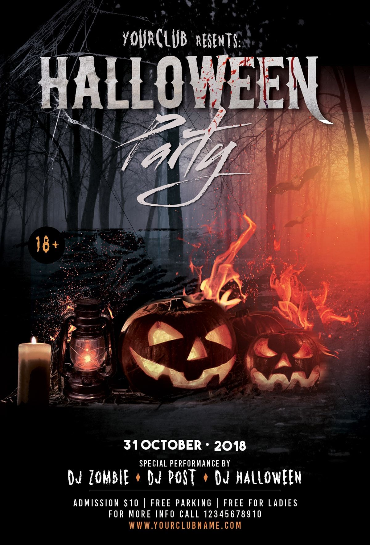 Halloween Event PSD Flyer Template (With images