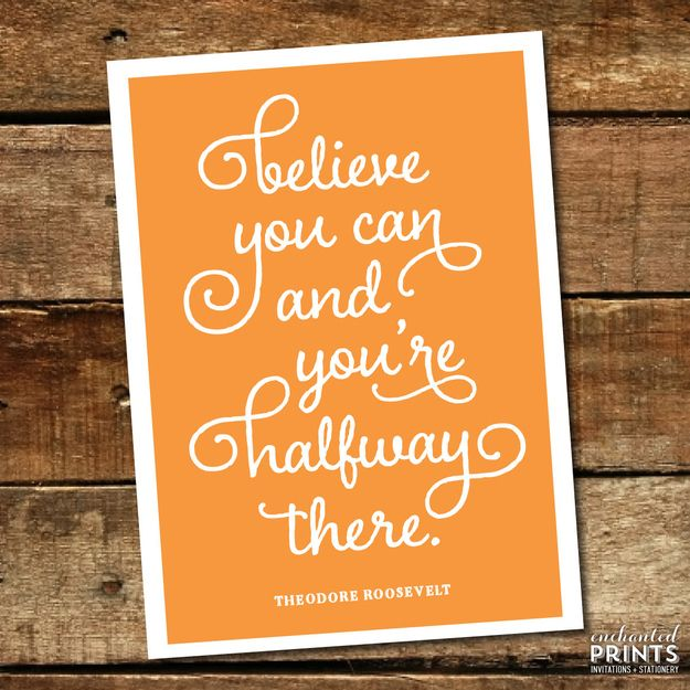 You Can Motivational Inspirational Quote Poster Print Wall Art