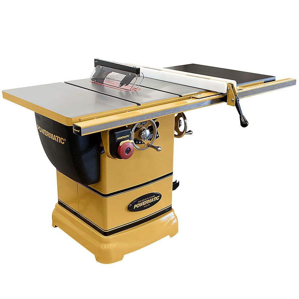 Powermatic 10 Inch Table Saw 1 3 4 Hp 30 Inch Fence Pm1000 Power Tools Craft Supplies Usa Best Table Saw Hybrid Table Saw Table Saw
