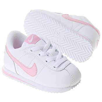 Athletics Nike Kids  Little Cortez Infant White Perfect Pink  FamousFootwear.com 6e64394030ef