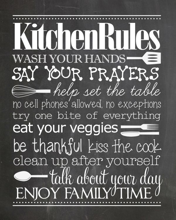 9 Whimsical Kitchen Chalkboard Printables To For Free