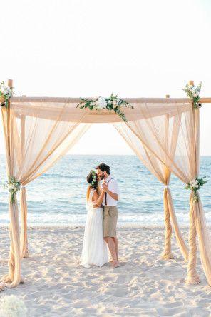 Traumhafte Strandhochzeit mit perfektem Sonnenuntergang – Lara und Gary