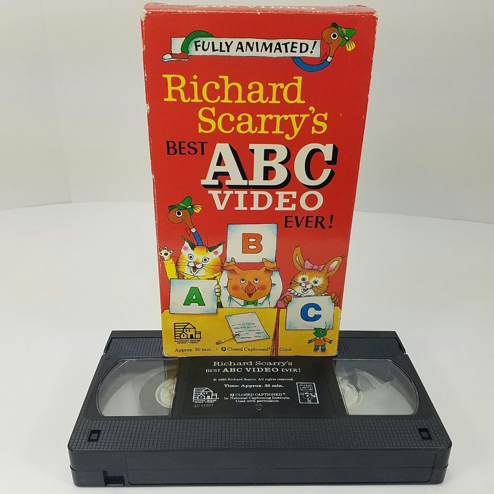 Richard Scarry's Best ABC Video Ever! VHS Format 1989 Play