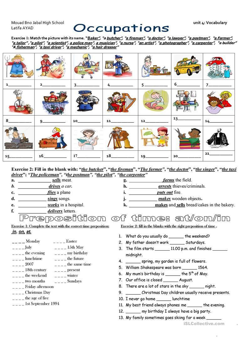 Jobs with keys worksheet Free ESL printable worksheets