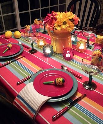 Mexican theme parties : mexican table setting - pezcame.com