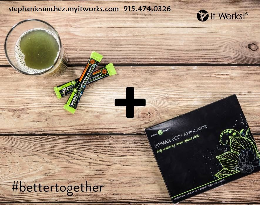 Visit my website or contact me for more information stephaniesanchez.myitworks.com stephieann02@hotmail.com #IWG #itworksglobal #thatcrazywrapthing #itREALLYdoeswork #lezgo #tone #tighten #firm #beauty #health #fitness #superfoods #allnatural #weightloss #skincare