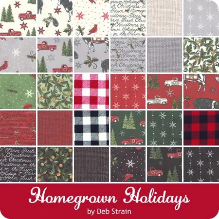Homegrown Christmas 2020 Pin on Fabric