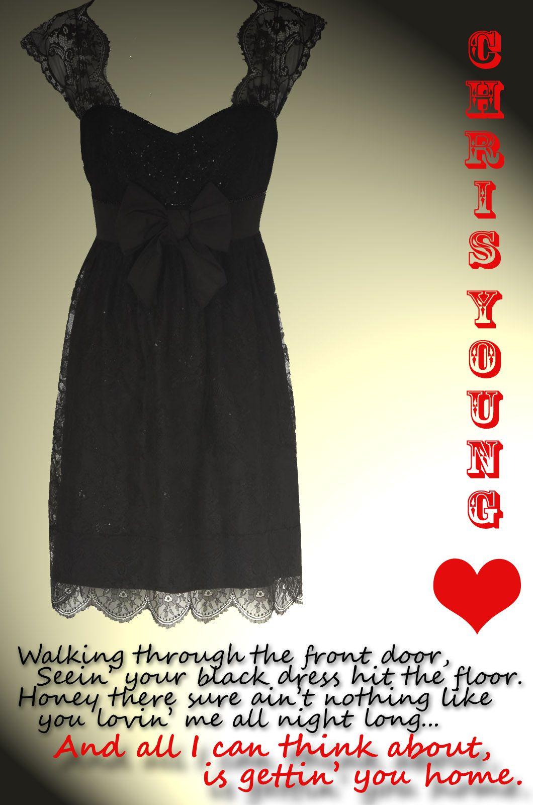 Long black dress by chris young
