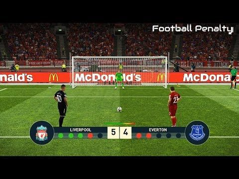 Liverpool vs Everton   Penalty Shootout   PES 2019 ...