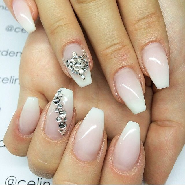 French Ombre Ballerina/coffin Shape | Nails | Pinterest | Follow Me Instagram And Wedding