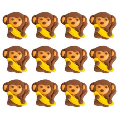 Astounding Monkey Icing Decorations 12Ct Party City To Put Under The Yellow Funny Birthday Cards Online Alyptdamsfinfo