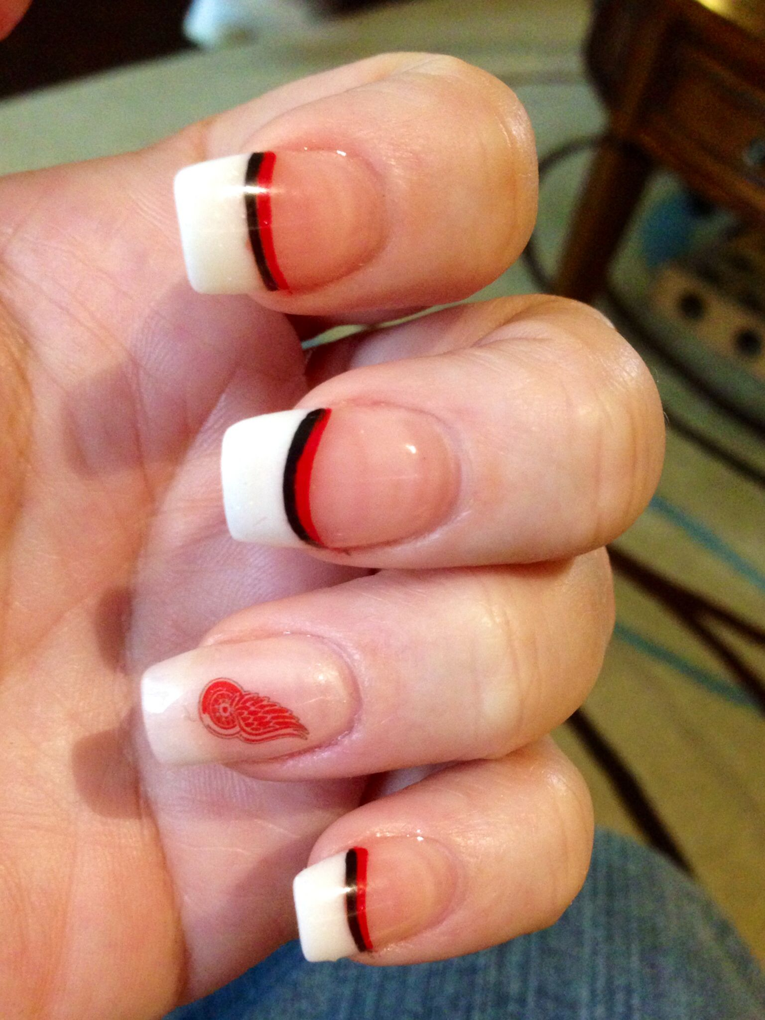 Red wings nails nails pinterest red wing nail nail and red wings nails prinsesfo Choice Image