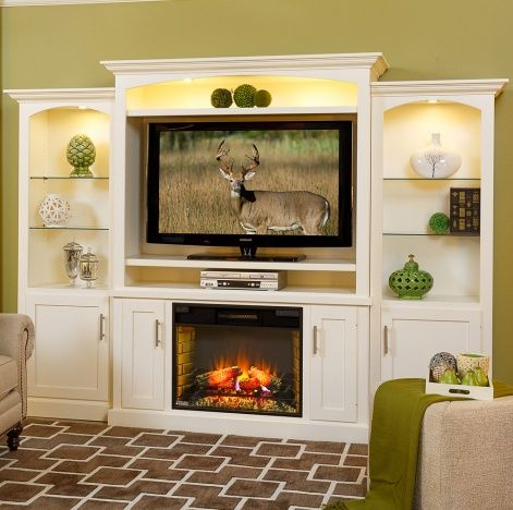 Mayfair Fireplace Amish Entertainment Center- TV Stands ...