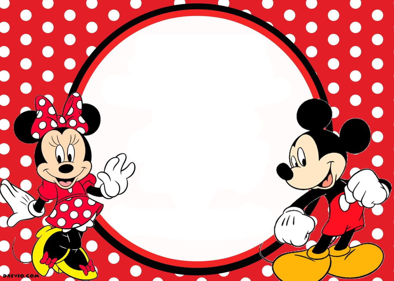 FREE Printable Mickey Mouse Invitations Exclusive Selection