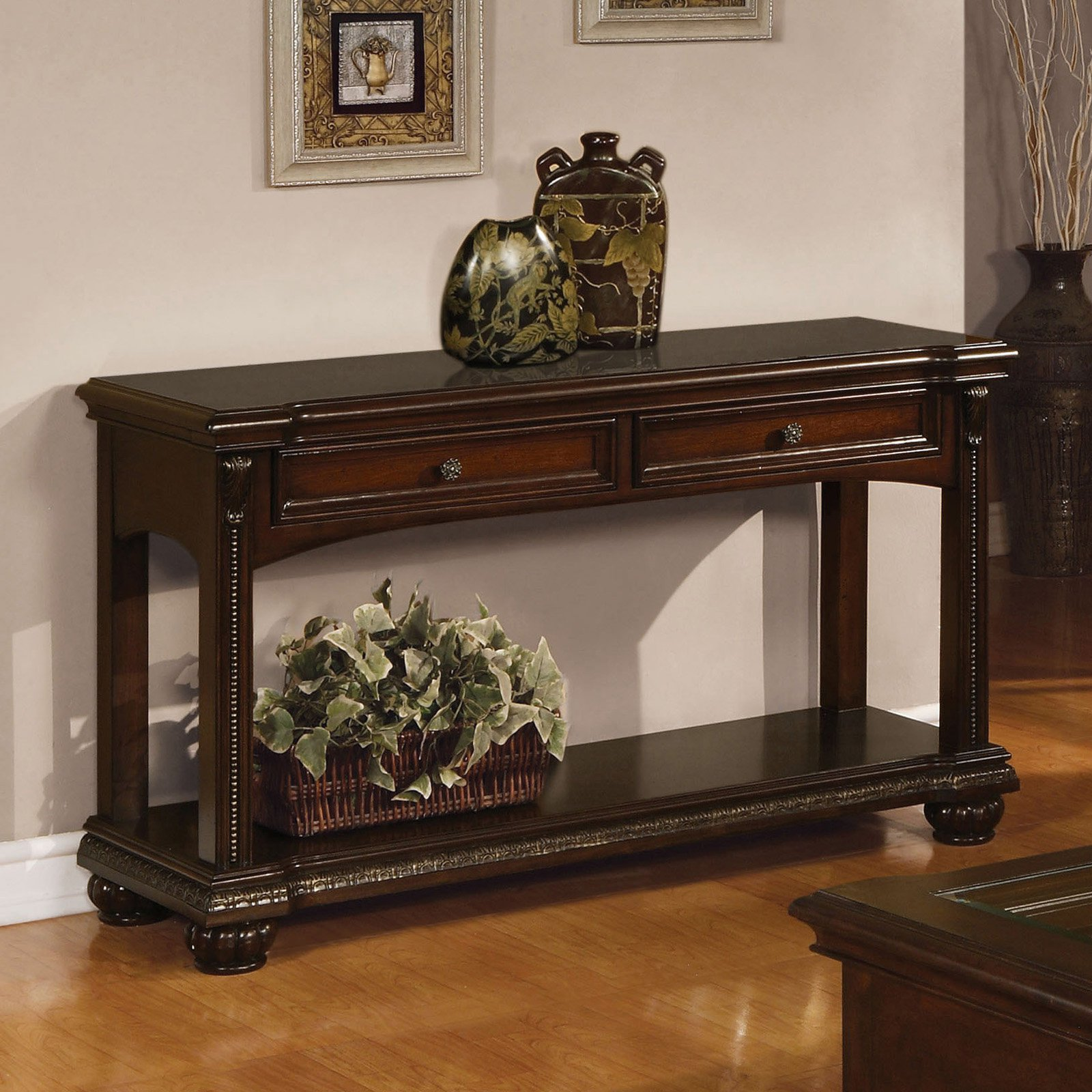 Acme Furniture Anondale Sofa Table Entry Console Table Wooden Frame Sofa Sofa Table