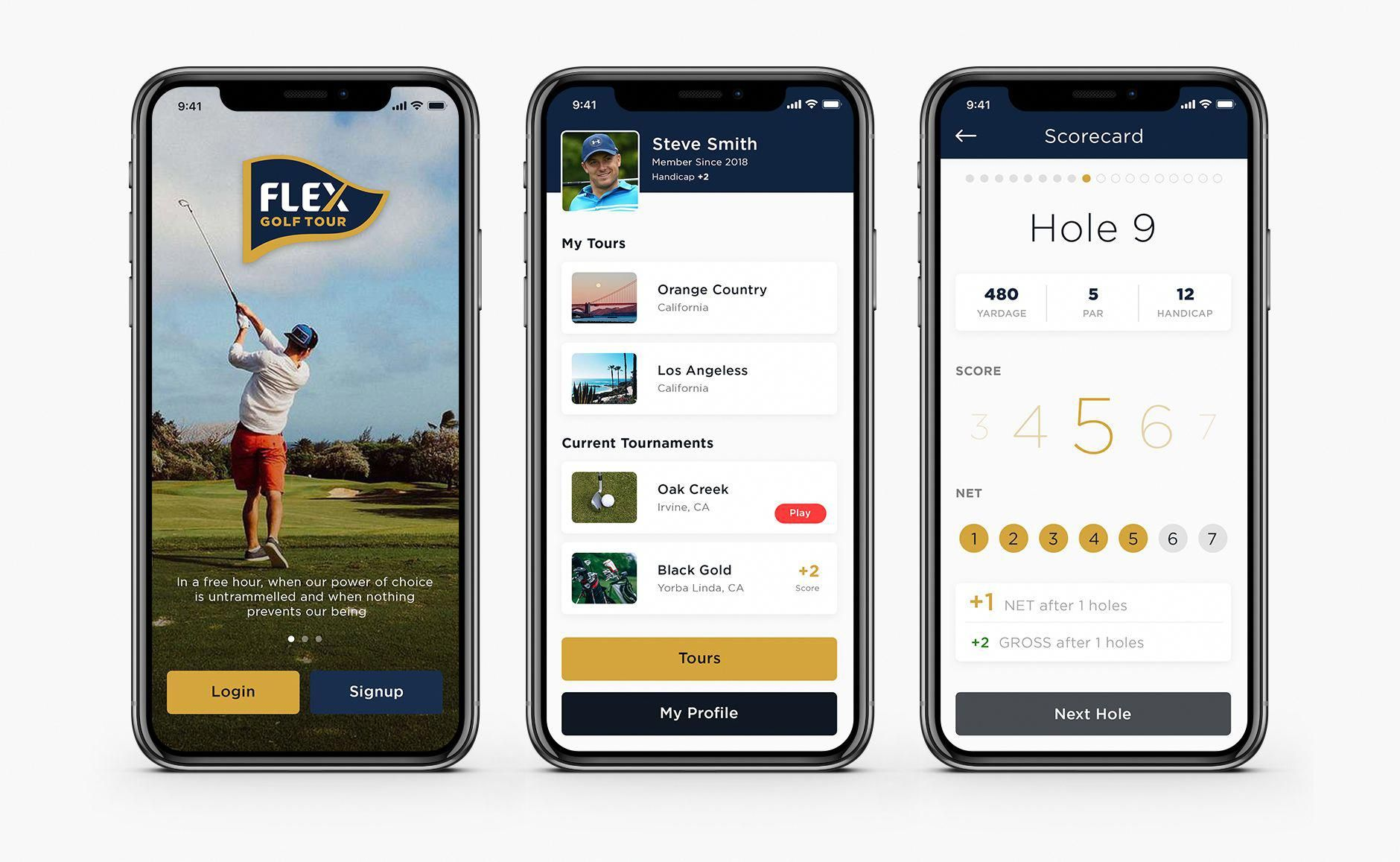 App Design For A New Competitive Social Golf Tour Esolz Appdesign Mobileapp Professional Golfapps Golf Tour Golf Apps Public Golf Courses