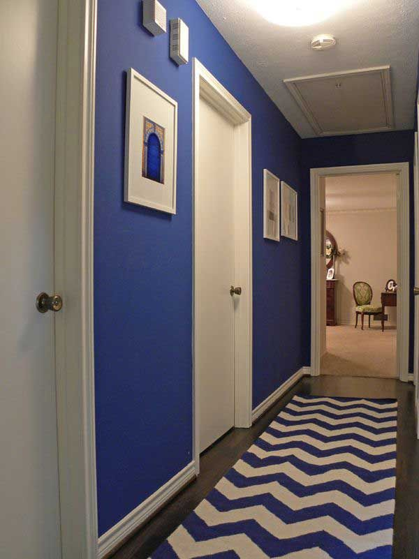 50 ideas para pintar y decorar un pasillo estrecho - Pintar pasillos estrechos ...