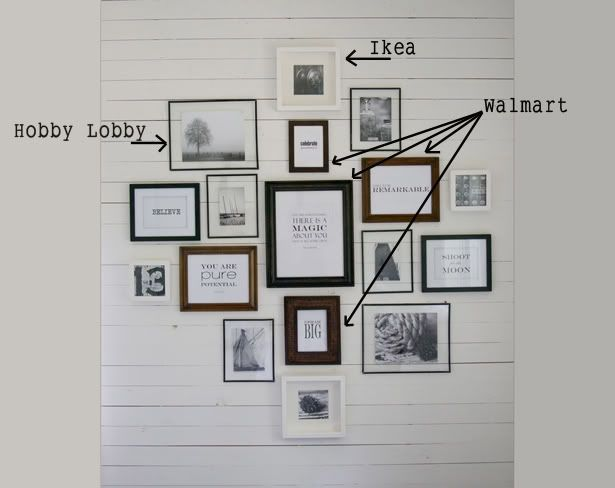 Picture Groupings Wall Collage Frames On Wood