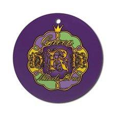 Mardi Gras HRH Queen Ornament (Round) for
