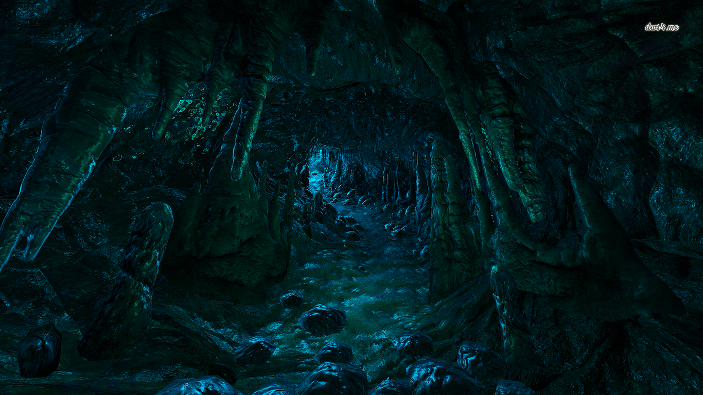 dark cave Dark cave, Beautiful landscapes, Anime